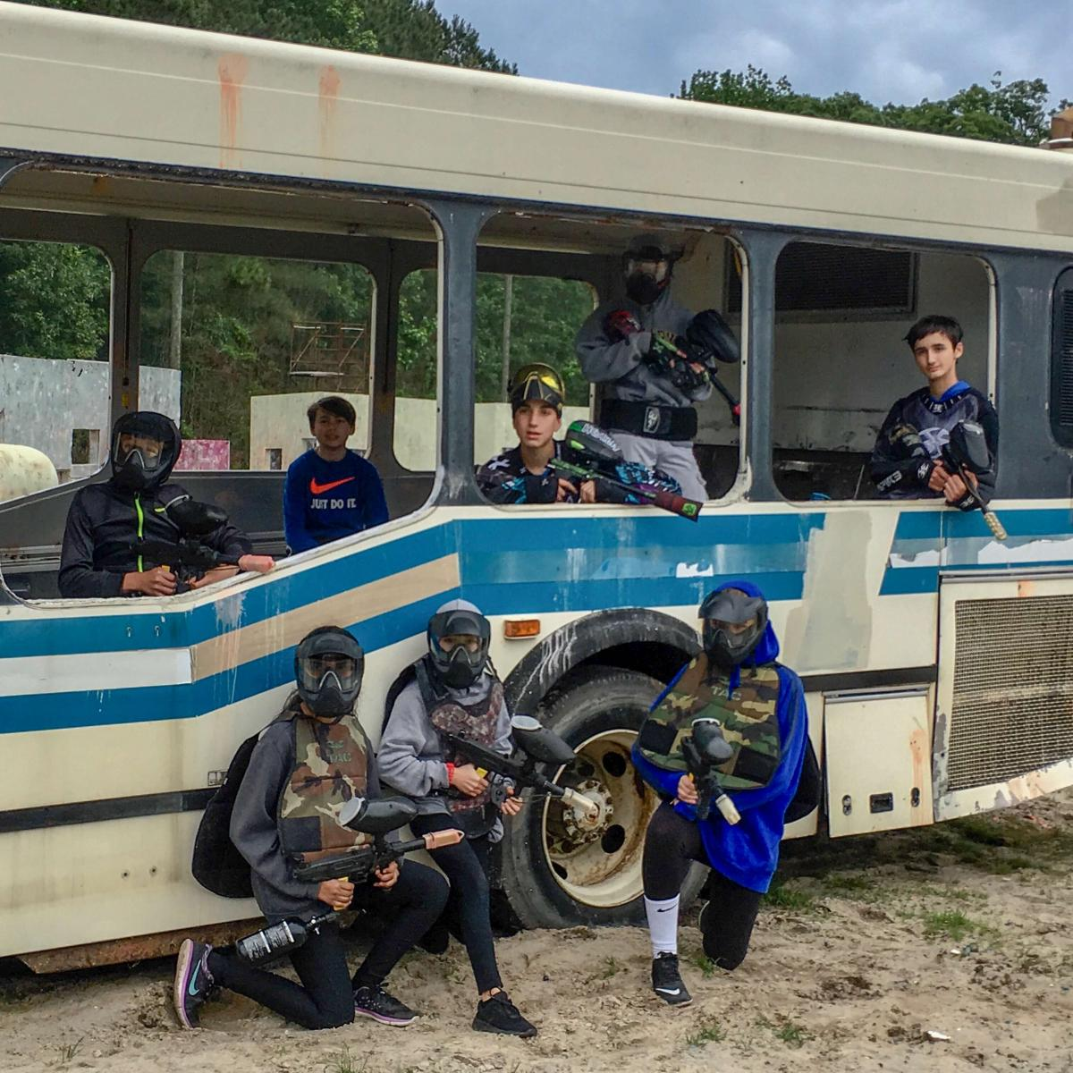 OC Paintball 36 foot bus
